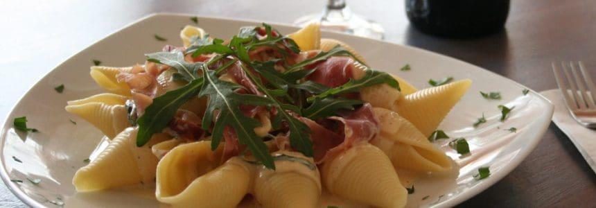 Arugula and Speck Pasta